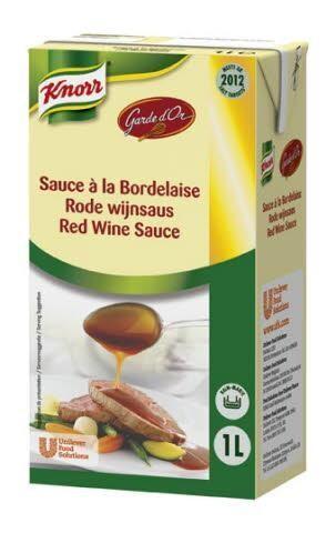 Knorr Garde d'Or Rode Wijnsaus 1L brik