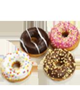 Poppies mini donuts 22gr assortiment 48st Diepvries