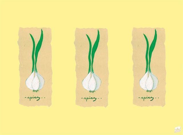 Paper Placemats Garlic 31x42cm 500pcs Lotus Professional
