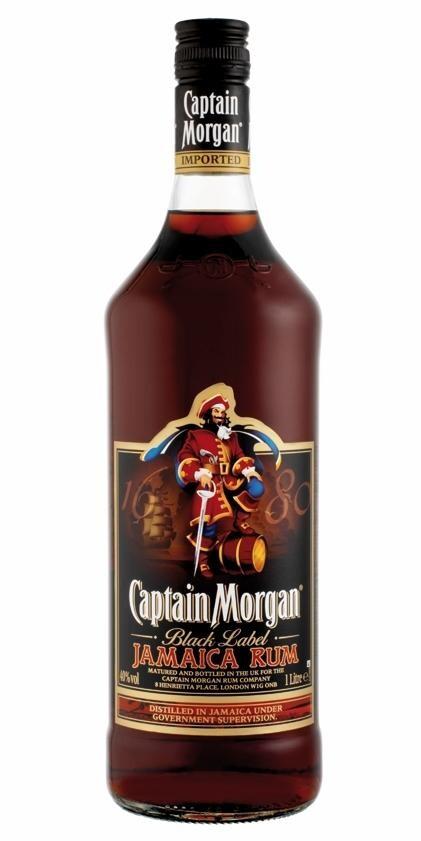 Rum Captain Morgan Black Label 1L 40% Jamaica