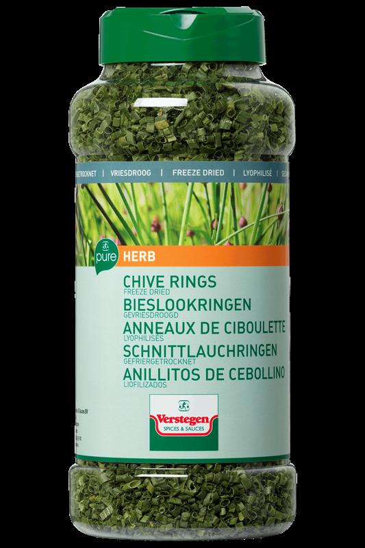 Verstegen Chives rings cut freeze-dried 35gr 1LP