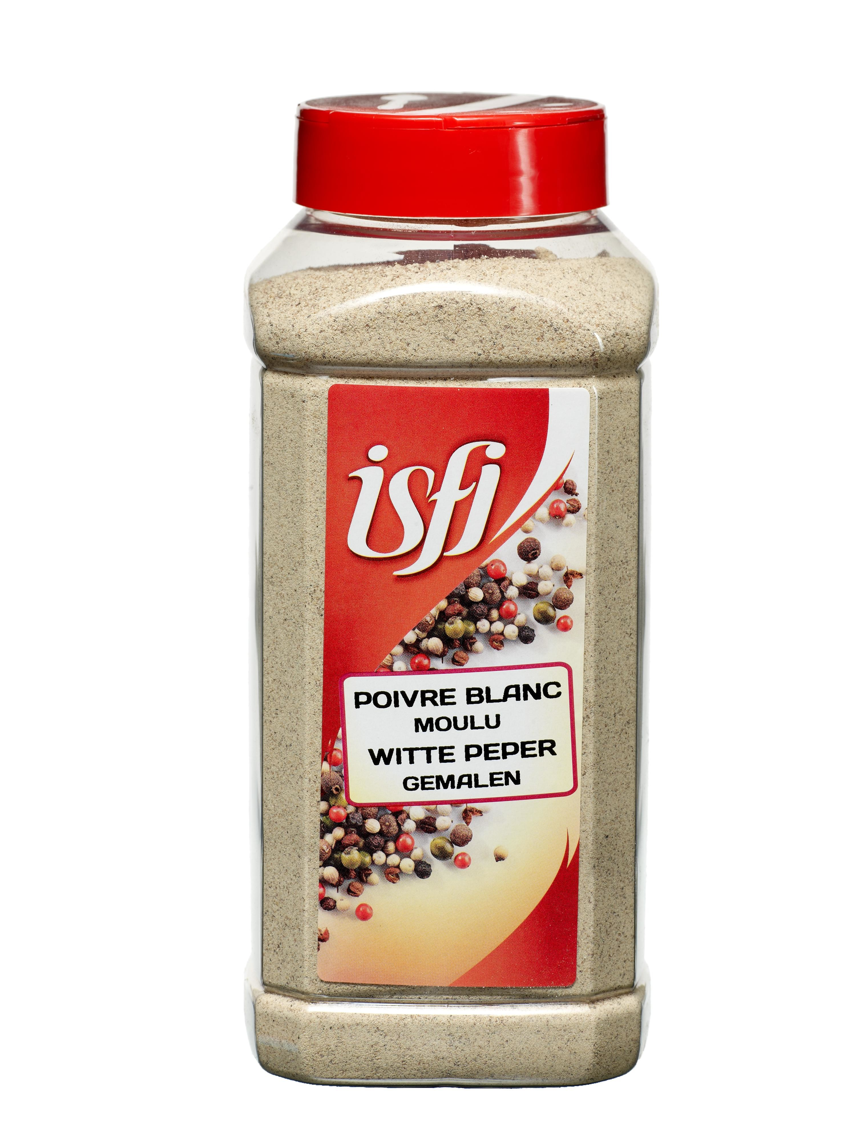 Pepper White Sandy Ground 550gr Pet Jar Isfi Spices