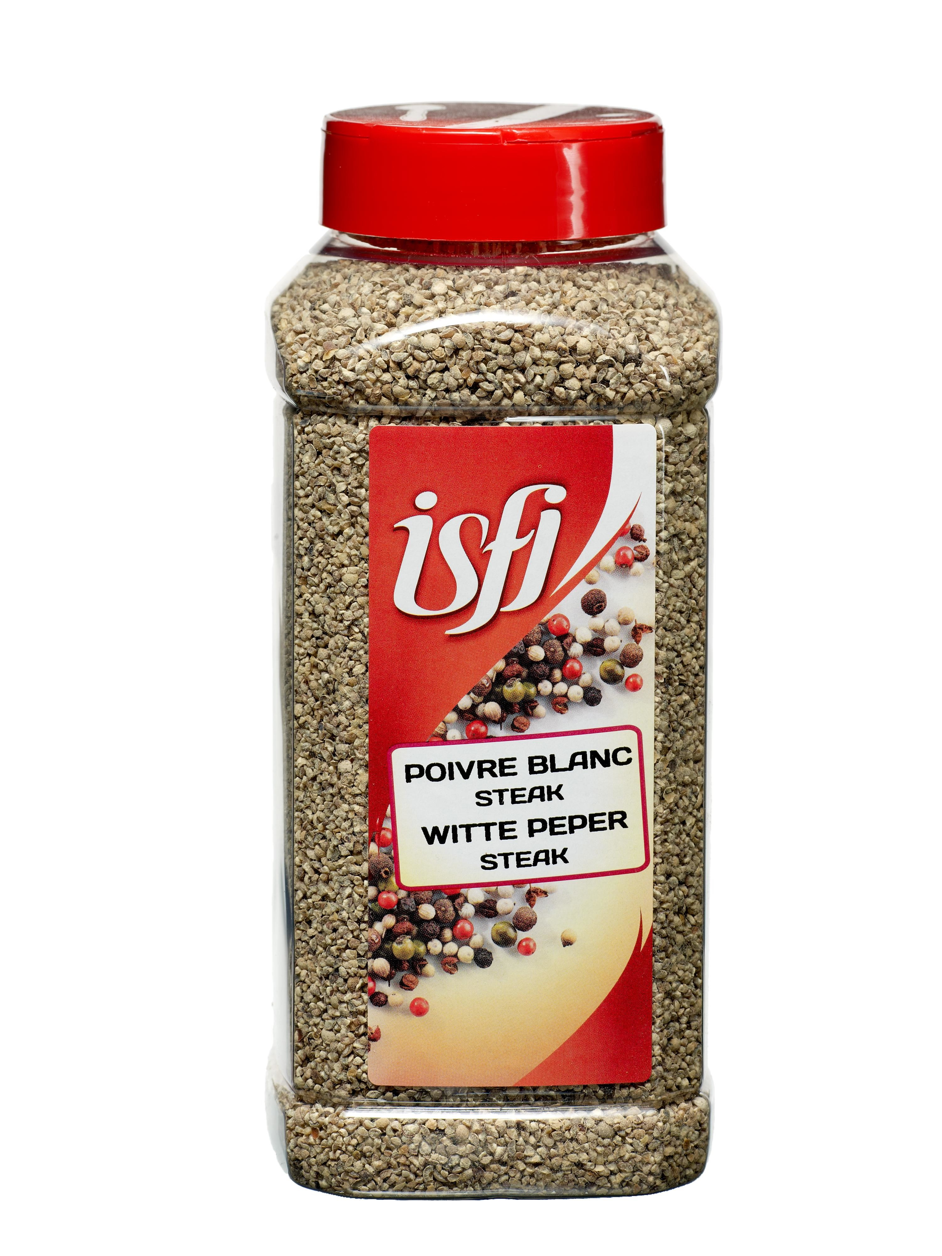 Cracked White Pepper 650gr Pet Jar Isfi Spices