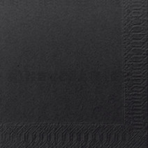 Cocktail napkins black 2-ply 1/4-folded 24x24cm 300pcs Duni