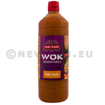 Wok essentials sauce chilli & garlic 1L Go Tan
