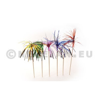Palm tree metallic on pick 6inch 15cm 100pcs 40024 Sier Disposables