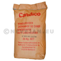 Light brown soft candy sugar cassonade 25kg Candico