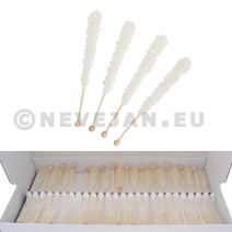 Rock Candy White Sugar Swizzle Cocktail sticks 100pcs Candico (Suiker)