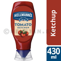 Hellmann's tomato ketchup 430ml squeeze bottle