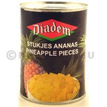 Pineapple pieces tidbits 565g Diadem