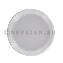 Plastic Dinner Plate white 22cm 8.8inch 100pcs