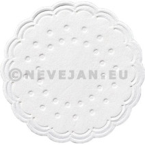 Coaster tissue white 9-plies 7.5cm Duni