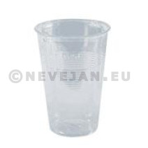 Plastic cup 0.25L clear