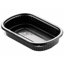 Duni Meal Box 1 compartment 800ml Black PP 240x150x40mm 50pcs