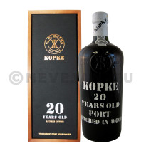 Port wine Kopke 20 years Old 75cl 20% Wooden Case
