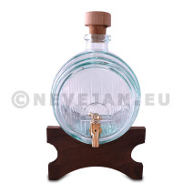 Glass Barrel for port or wine 1.8L + wooden base