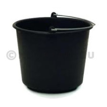 Plastic Black Bucket 12L 3 Gallon 1pc