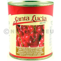 Sweet Red Cherries pitted in light syrup 840gr Santa Lucia