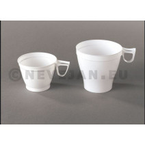 Disposable Coffee Cup white with handle 180ml 20pcs