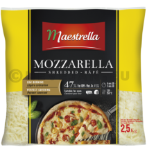 Mozzarella Shredded 2.5kg Maestrella