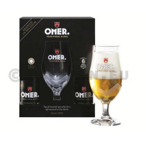 Omer Blond beer 4x 33cl + 1 glass + giftpack