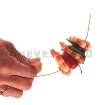Rounded Bamboo skewers with handle 6inch 150mm 250pcs B51