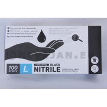 Nitrile Gloves Black Large 100pcs