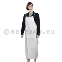 Plastic Disposable Aprons White 80x136cm 50pc