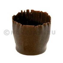 Small carved cups 27x26mm pure chocolate 270pcs Callebaut