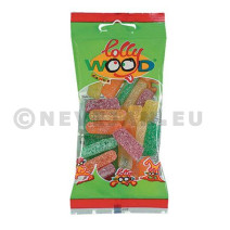Snoepzakjes zure sticks 24x60gr Lollywood