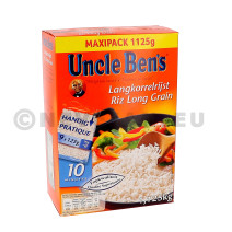 White long grain rice cooking bags 10min 1.125kg Uncle Ben's