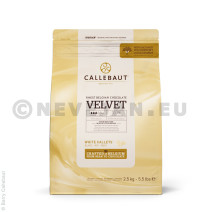 Barry Callebaut chocolate white Velvet 2,5kg 5.5lbs callets CHW-R2241NV