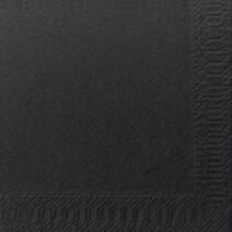 Cocktail napkins black 2-ply 1/4-folded 24x24cm 300pcs Duni