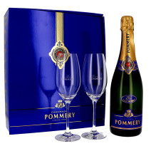 Champagne Pommery Royal 75cl Brut + 2 glasses + Giftbox