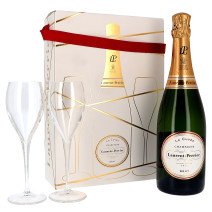 Champagne Laurent Perrier 75cl Brut + 2 Glasses in Giftbox (Champagne)