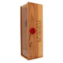 Houten kist voor 1 fles 3/4 Chateau Ricardelle Vendredi XIII (Default)