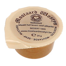 Mustard Mostaard Wostyn 200x25gr portions cups
