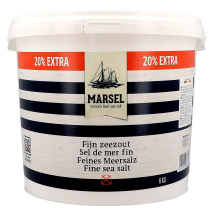 Marsel Fine Sea Salt 6kg bucket (Zout & Peper)