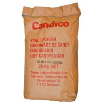 Light brown soft candy sugar cassonade 25kg Candico