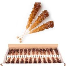 Rock Candy Brown Swizzle Sugar Cocktail sticks 100pcs Candico (Suiker)