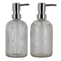 Soap Dispenser Glass with Pump 400ml refillable (Default)