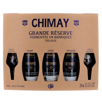 Chimay Trilogie 3x75cl + 2 glasses + Giftbox