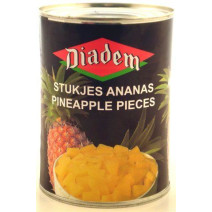 Diadem Pineapple pieces tidbits 565g canned