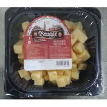 Kaas Belegen Brugge blokjes voorgesneden 600gr