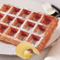 Brusselse wafels artisanaal 80gr met boter 24st diepvries