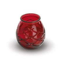 Candle Glass d'light red 1pcs Spaas