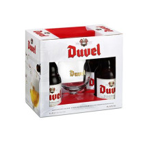 Duvel 4x33cl + Glass in Giftbox