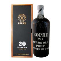 Port wine Kopke 20 years Old 75cl 20% Wooden Case