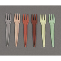 Colorful French fries forks plastic 1000pcs