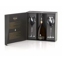 Champagne Henri Abelé Sourire de Reims Blanc Brut 75cl Cuvee Prestige + 2 Glass Giftpack